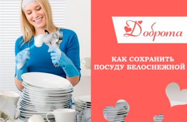 Как сохранить посуду белоснежной