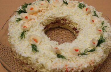 Салат «Наречена» — ідеальний варіант для святкового столу — смачний, поживний і корисний.