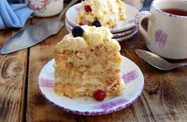 Торт «Пломбір» – готується просто і швидко, а його смак нагадує пломбірне морозиво