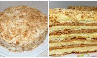 Простий рецепт торта «Сметанник» на сковороді. Готовиться легко і швидко.