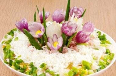 Оригінальний салат з курагою до 8 березня
