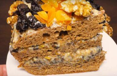 Смачний та простий в приготуванні торт «Пікова дама»