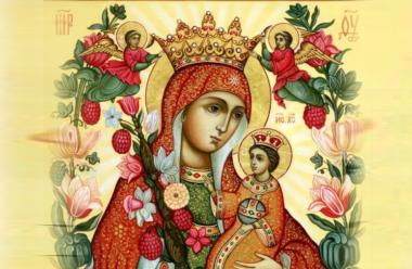 16 квітня – ікони Божої Матері «Нев'янучий цвіт». До неї моляться про зцілення.