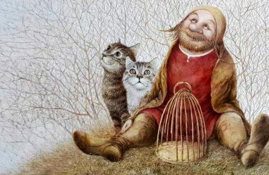 А добрые люди накормят бездомную кошку. Очень доброе стихотворение