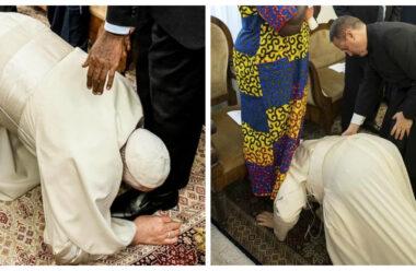 Вчинок Великої людини: Папа встав на коліна перед лідерами Судану, щоб вони закінчили війну