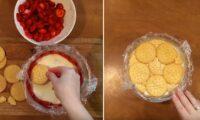 Особливо смачний літній десерт! Все що потрібно: ягоди, печиво і 30 хвилин вашого часу.
