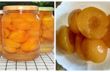 Особливо смачні консервовані персики. Здивуйте своїх дітей та гостей.