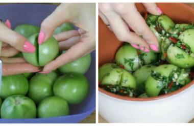 Неймовірно смачні фаршировані зелені помідори. Такі ви ще точно не робили.