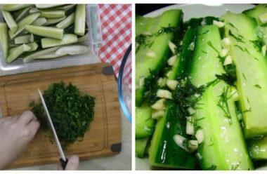 Огірки у власному соку, 10 хвилин і смачне блюдо готове.