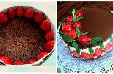 Торт «Полуниця» Бомбовий рецепт, який зараз усі готують.