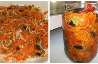 Особливий салат на зиму — баклажани по-корейські. Неймовірно смачна закуска.