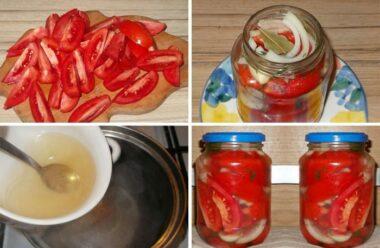 Просто неймовірні помідори половинками в желе на зиму!