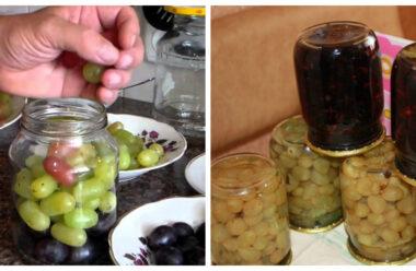 Чудовий рецепт маринованого винограду на зиму. Неймовірно смачно виходить.