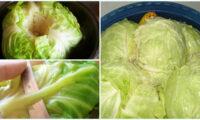 Кращі рецепти засолювання капусту для голубців на зиму.