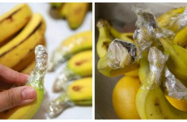 Ефективний спосіб, щоб банани довго не чорніли. Збережіть собі цю корисну підказку.