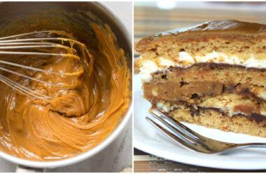 Смачненький тортик «Снікерс», який подобається дітям і дорослим.