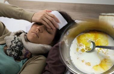 Молоко, мед і сода — допоможуть швидко подолати застуду та бронхіт.