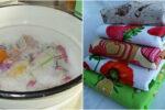Засоби для прання кухонних рушників від бруду та жиру, щоб вони знову були як нові.