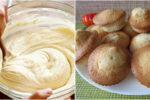 Апетитні домашні кекси на сметані. Простий та швидкий рецепт приготування.