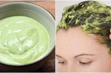 Натуральна маска для волосся, яка зміцнює корені та стимулює ріст.