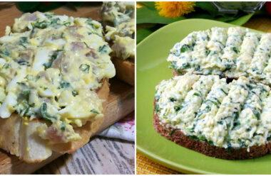 12 рецептів смачних намазок на хліб. Готуються просто, та швидко