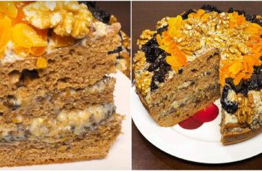 Торт «Пікова дама» — легкий в приготуванні та дуже смачний. Господині в скарбничку рецептів