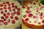 Ніжний та солодкий заливний пиріг з ягодами. Зараз багато господинь готують за цим рецептом