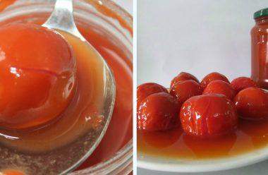 Помідори консервовані в томатній пасті. Смачна заготовка на зиму