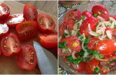 Мариновані помідори за цим рецептом виходять дуже смачні та пікантні