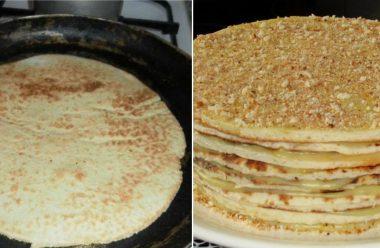 Рецепт торта «Наполеон» без випічки. Це швидко і дуже смачно