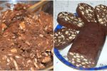 Шоколадна ковбаса. Виходить дуже смачна, та можна давати сміливо дітям