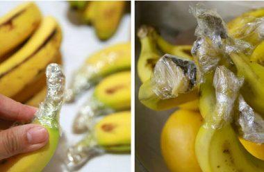 Щоб банани не чорніли, а довго залишалися свіжими, зберігайте їх за допомогою цього способу