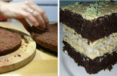 Шоколадний торт зі смачним вершковим кремом. Він просто тане в роті
