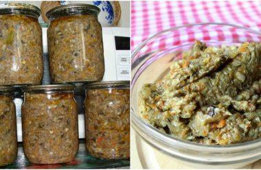 Грибна ікра, яку можна готувати з будь-яких лісових грибів. Виходить дуже смачна