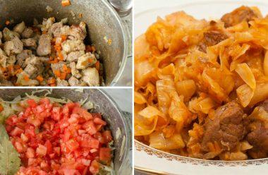 Капуста тушкована зі свининою, смачна та ситна страва, яка нагодує цілу сім'ю