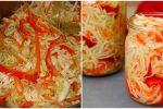 Капуста, перець і морква — Салат, який стане основною закускою в зимові дні