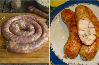 Ароматна та дуже смачна домашня куряча ковбаса. Більше не купляємо в магазині
