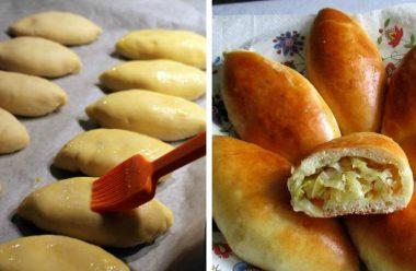 Пиріжки з картопляною або капустяною начинкою. Вони виходять пухкі, м'які та дуже смачні