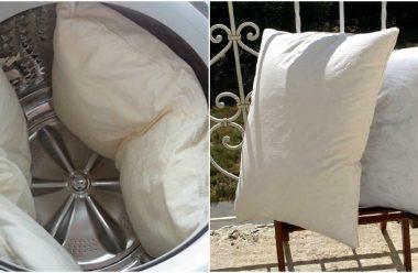 Як правильно випрати подушку, щоб вона була знову чистою, та не пошкодити її