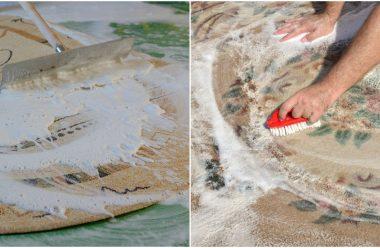 Ефективний засіб, який допоможе відчистити килим від бруду та застарілих плям