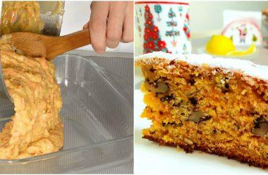 Морквяно-горіховий кекс. За цим рецептом виходить ароматний та дуже смачний
