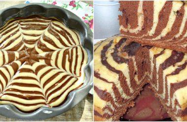 Кекс Пиріг «Зебра». За цим рецептом виходить дуже смачний та має апетитний вигляд