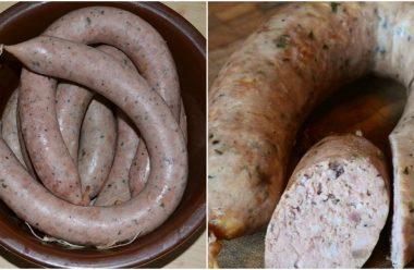 Домашня ліверна ковбаса за смачним рецептом. В рази краща ніж з магазину