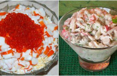 Три смачні та цікаві рецепти салату з крабовими паличками. Просто пальчики оближеш