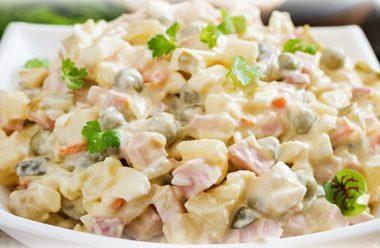 Цікавий та смачний рецепт приготування салату Олів'є. Такого ви ще точно не їли