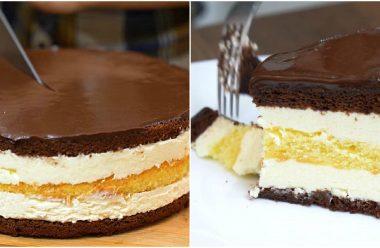 Торт «Пташине молоко» з манковим кремом виходить дуже ніжний та смачний