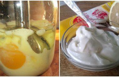 Рецепт приготування натурального та смачного майонезу. 10 хвилин і все готово