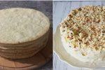 Сирний торт «Наполеон». За цим рецептом виходить дуже ніжним та м'яким