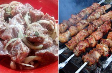Два рецепти для приготування смачного шашлику зі свинини. М'ясо просто тане в роті