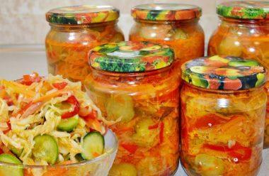 """Цікавий та дуже смачний салат """"Кубанський"""" на зиму. Його завжди з'їдають першим"""